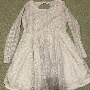 Mauve knee length dress